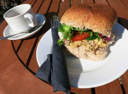 Crab roll Café St. Abbs Harbour Scotland