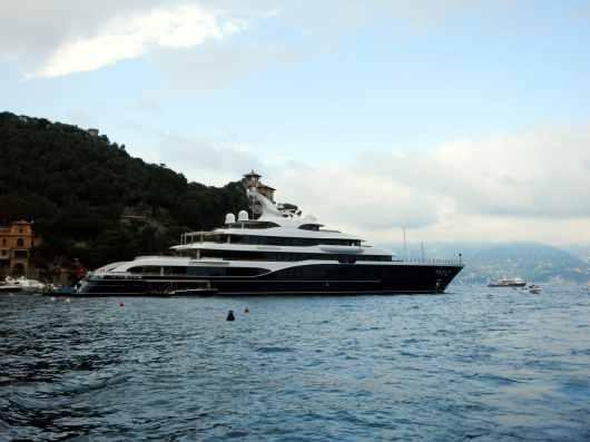 Deluxe yacht Portofino harbour Italy