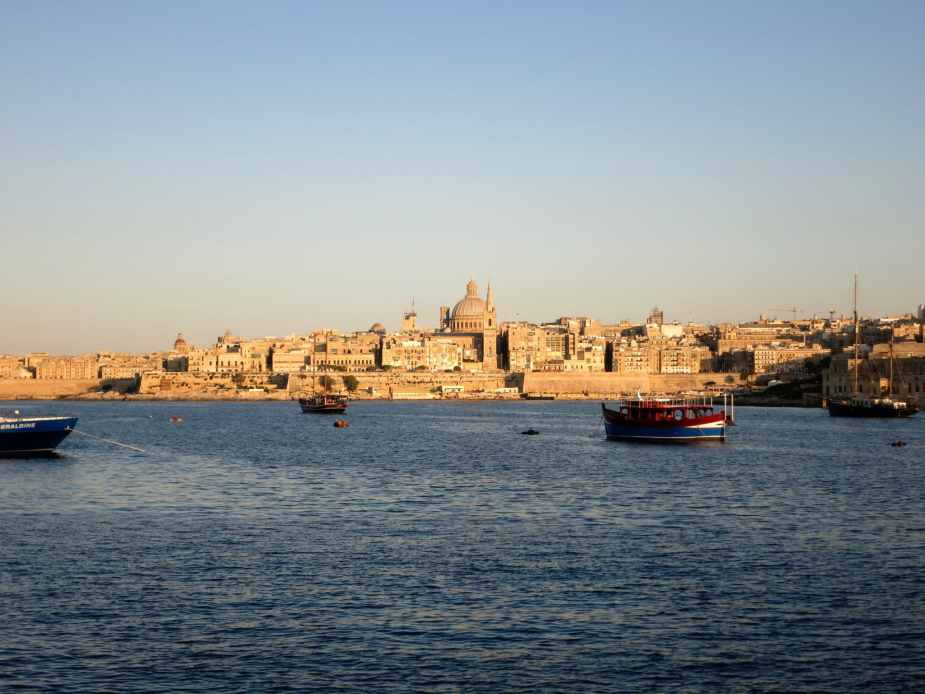 weekend in Valletta Sunset from Sliema