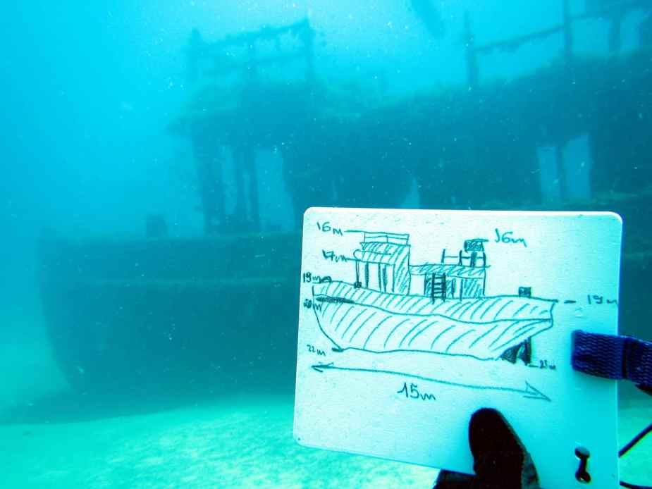 Mapping St Michael Tugboat wreck diving specialty Malta
