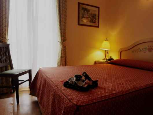 Single room at Grande Albergo Hotel Sestri-Levante Liguria Italy