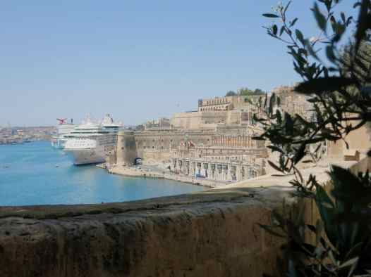 View from Lower Barraka gardens Valetta Malta