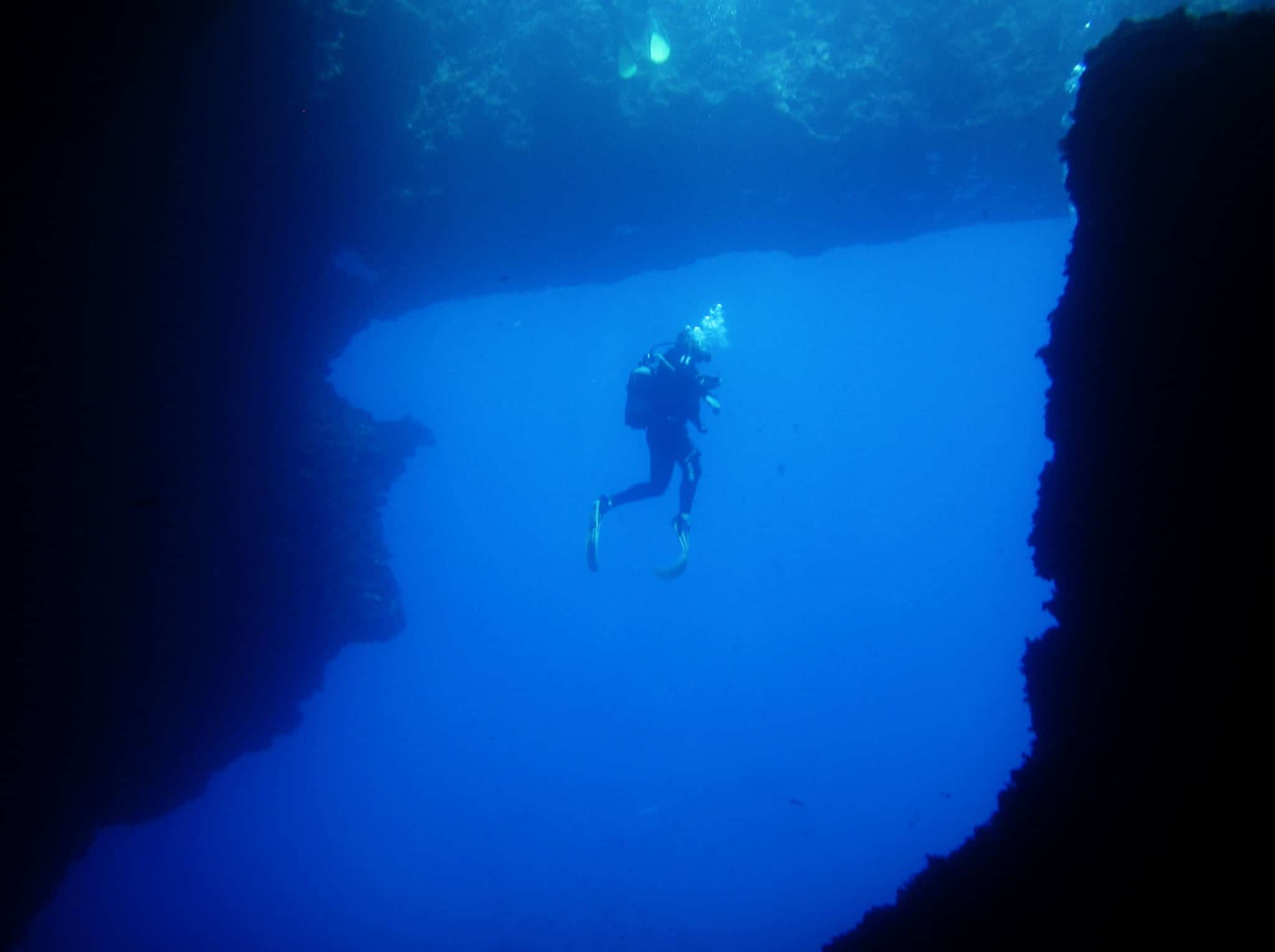 Scuba diving Blue Hole Gozo Malta