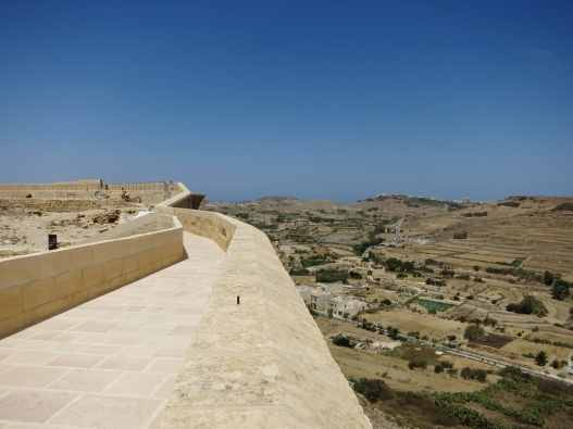View from the wall Victoria Citadel Gozo Malta
