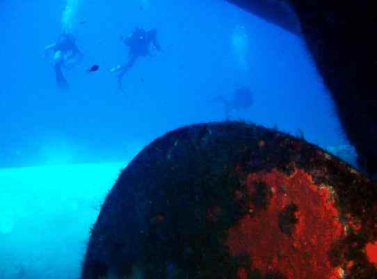 Wreck diving the UM El Faroud Blue Grotto Malta