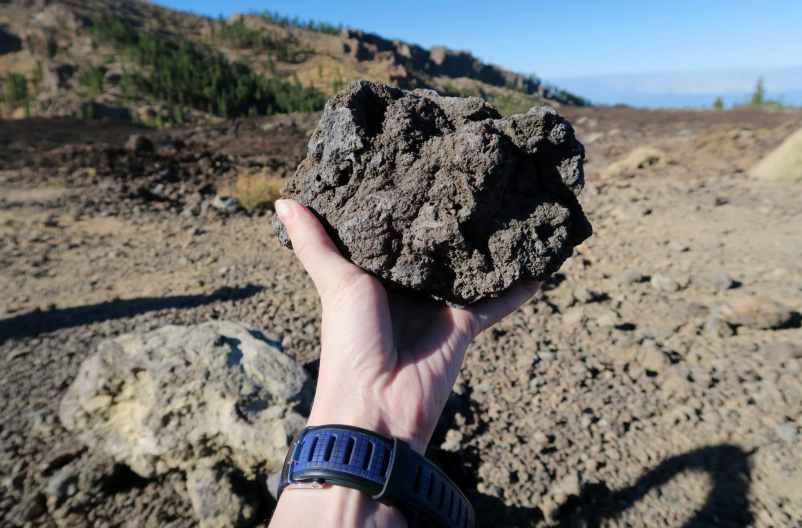 Lava stone Teide National Park Tenerife Canary Islands