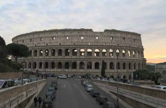 Coliseum - Walking tour in Rome in December