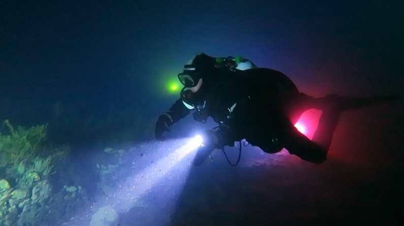 Diving Capodacqua by night