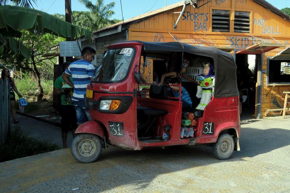 Tuk Tuk Taxi in Utila Honduras