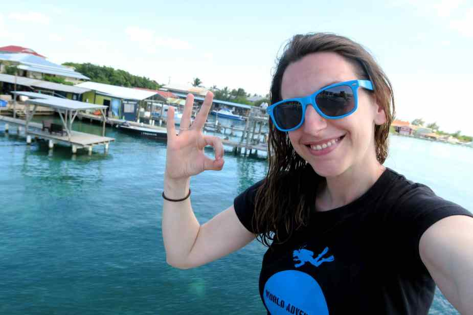 Florine at Utila Dive Center