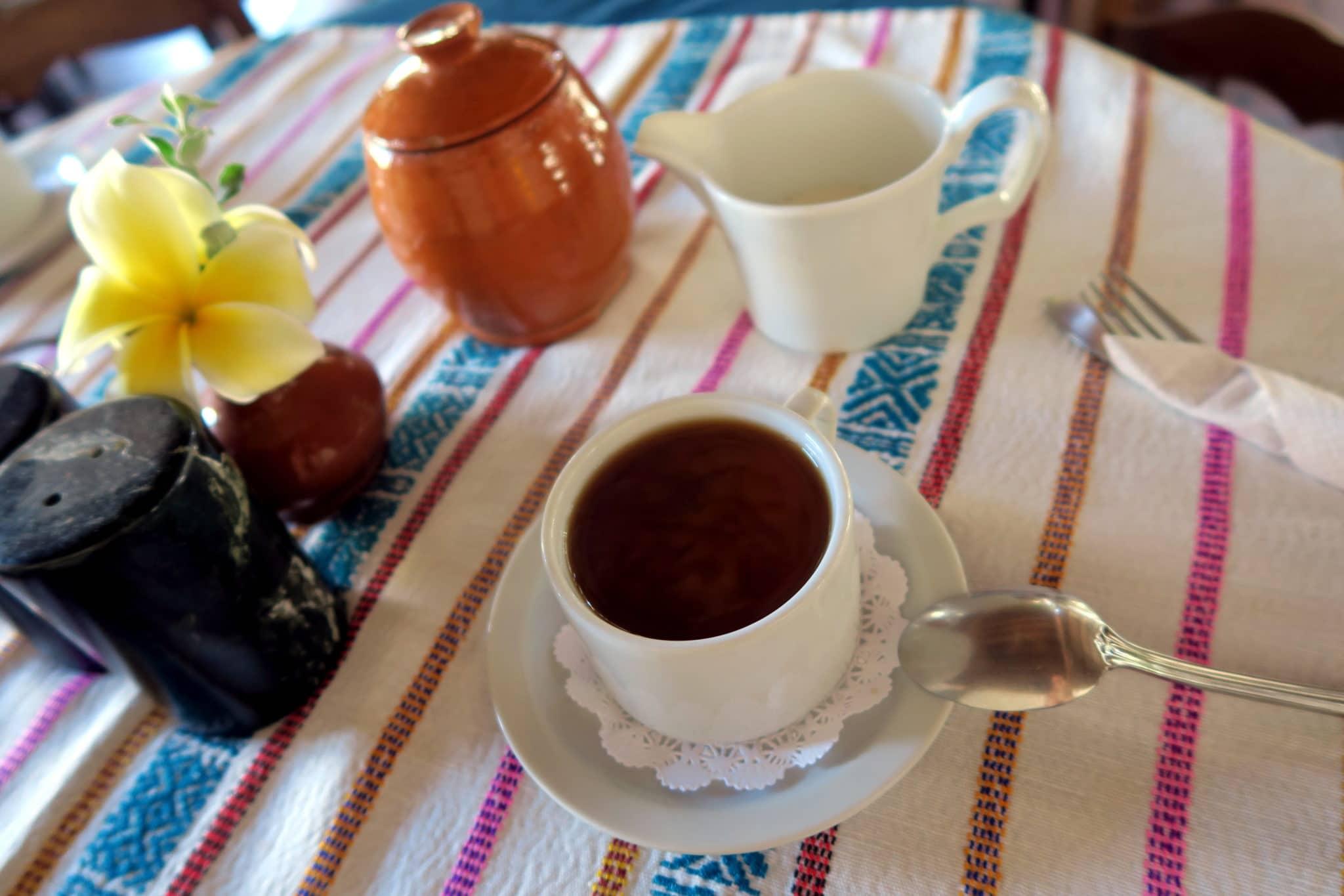 Breakfast Coffe at Don Udo Hotel Copan Honduras