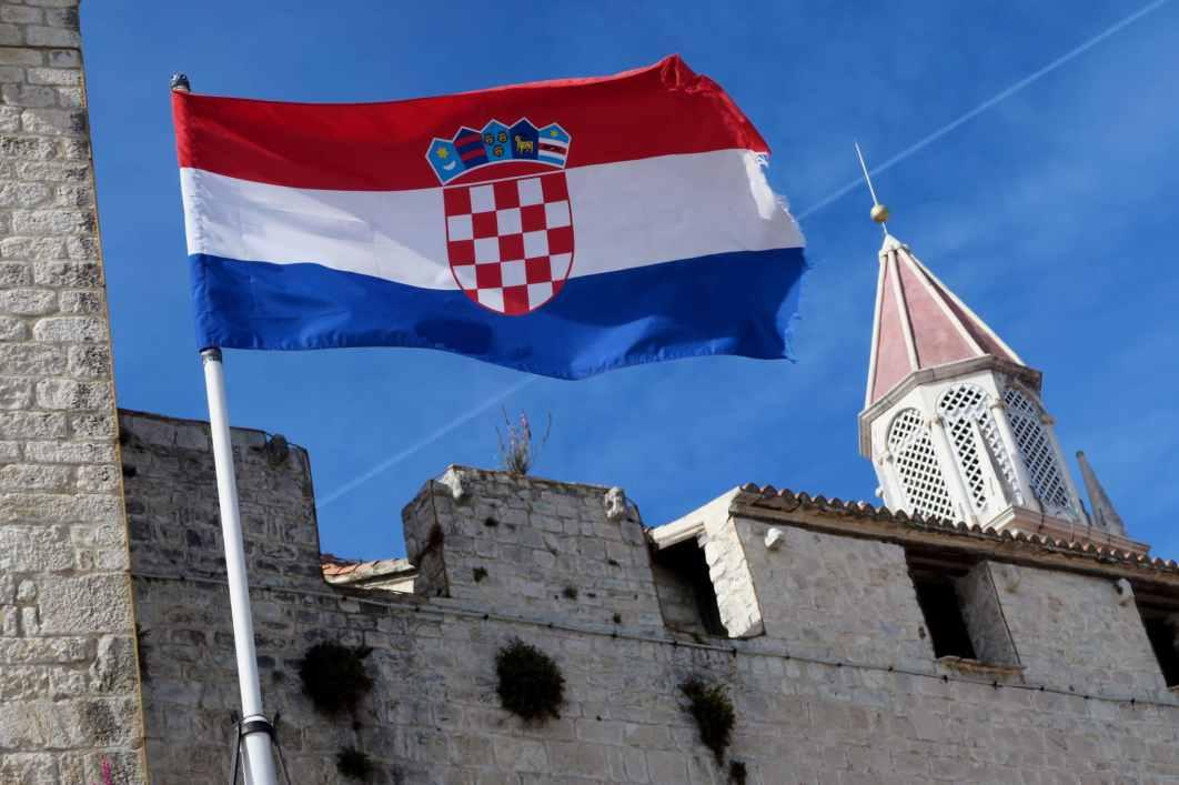 Flag Trogir Croatia