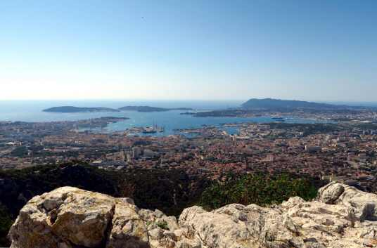 Toulon Bay view from Mont Faron France
