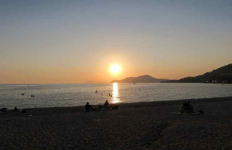Sunset Hyères Beach France