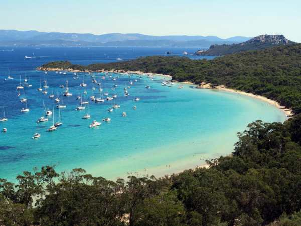 La Courtade Beach Porquerolles French Riviera Island France