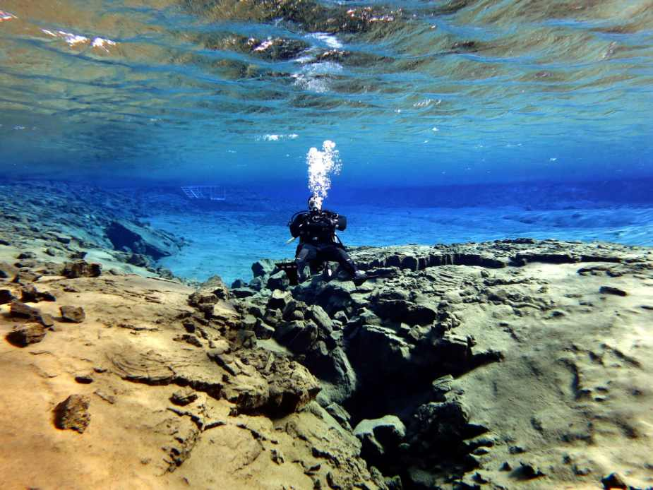 Scuba diving Silfra Lagoon Iceland - Best diving in Europe
