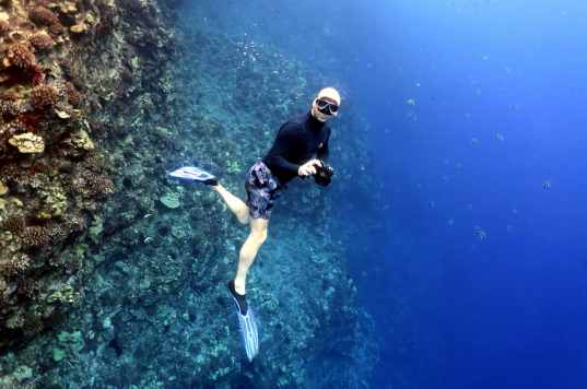 Freediving Molokini Crater Maui Hawaii