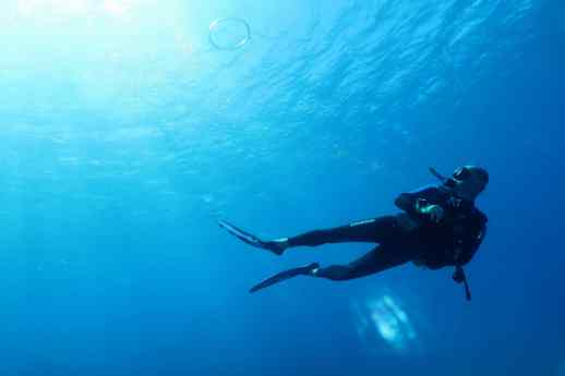 Scuba diving in Kohala Coast Big Island Hawaii USA