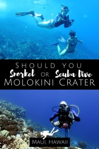 Snorkel or Scuba Dive Molokini Crater Maui Hawaii USA