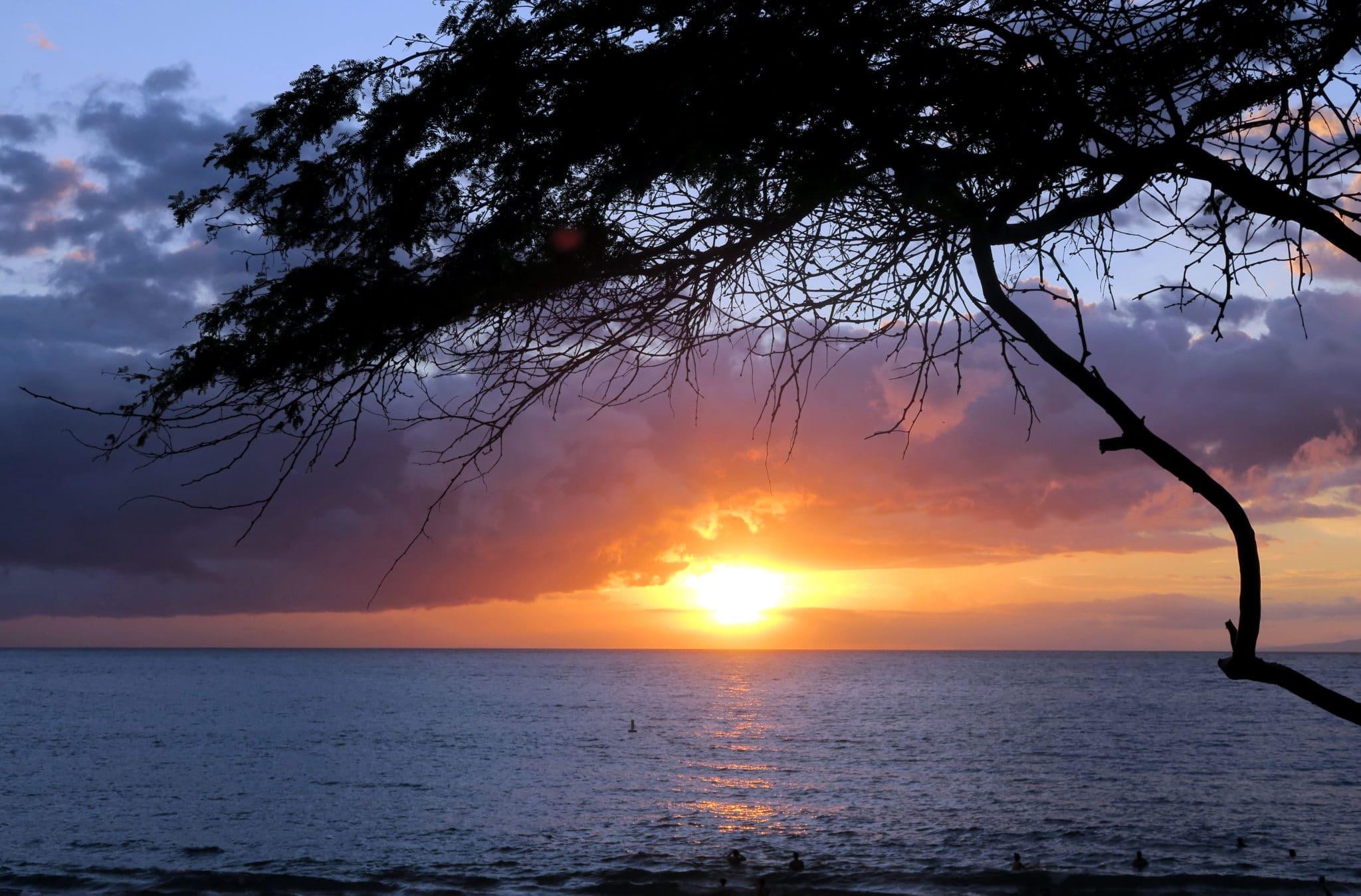 Sunset Kihei Beach Maui Hawaii