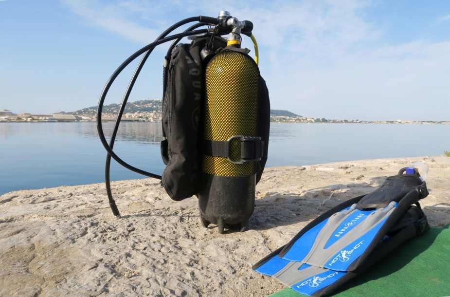 scuba diving in Thau Lagoon France