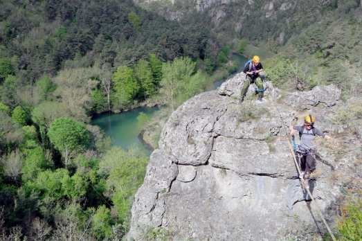 River diving in Gorges du Tarn France