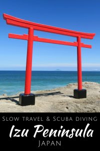 Slow travel and Scuba diving in the Izu Peninsula Japan