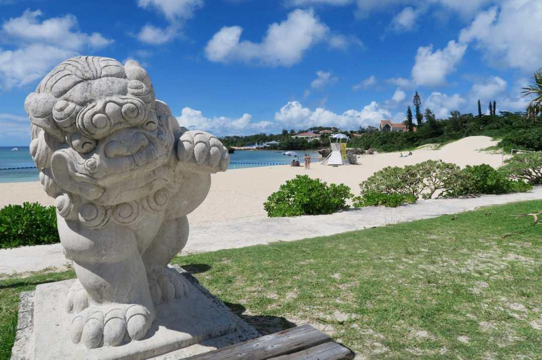 Nabee Beach Onna Village Okinawa Japan