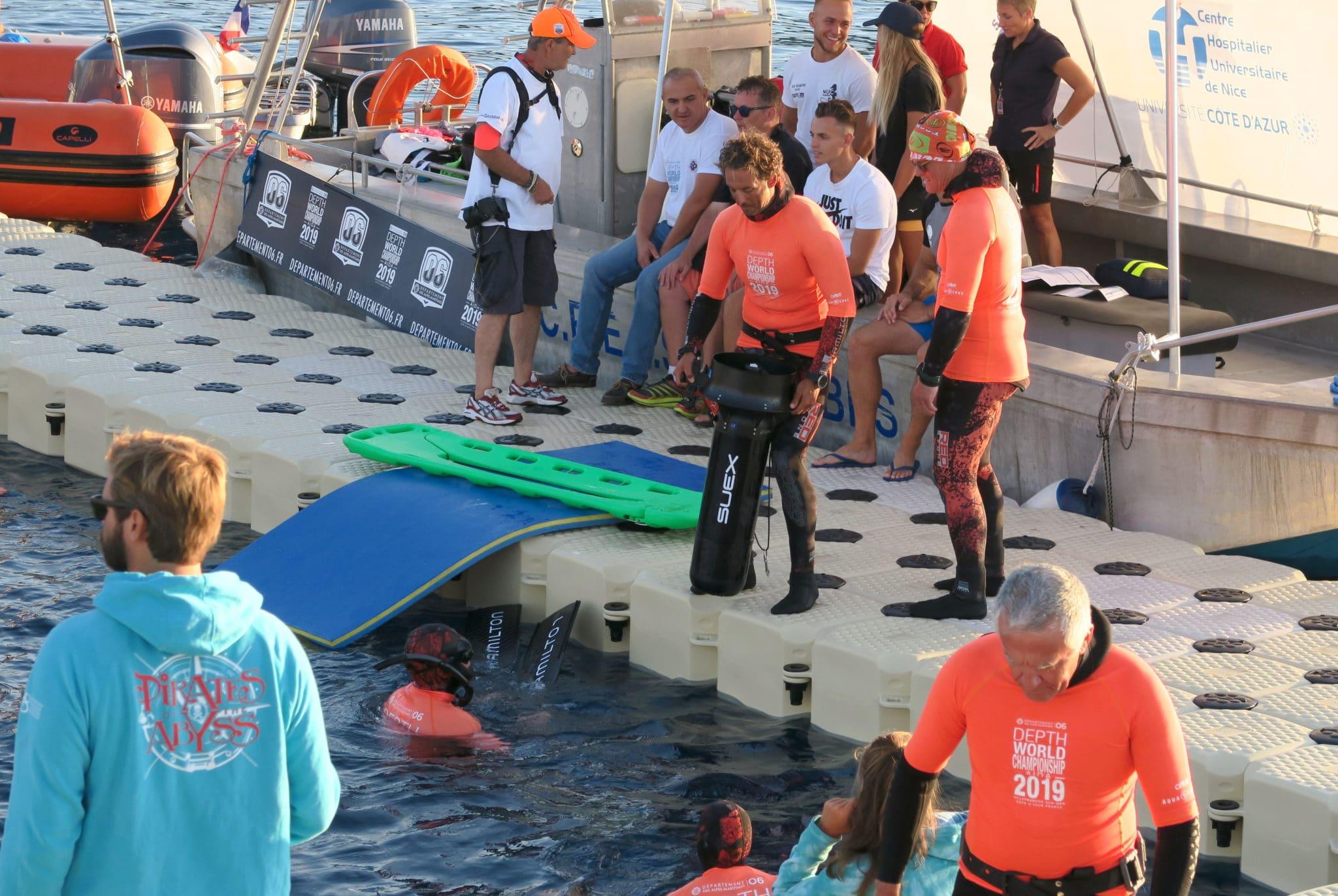 Safety Divers AIDA Depth world championships 2019 Villefranche