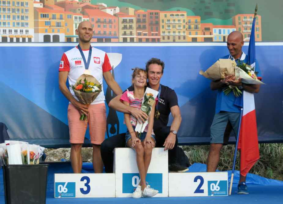 Podium AIDA Depth world championships 2019 Villefranche