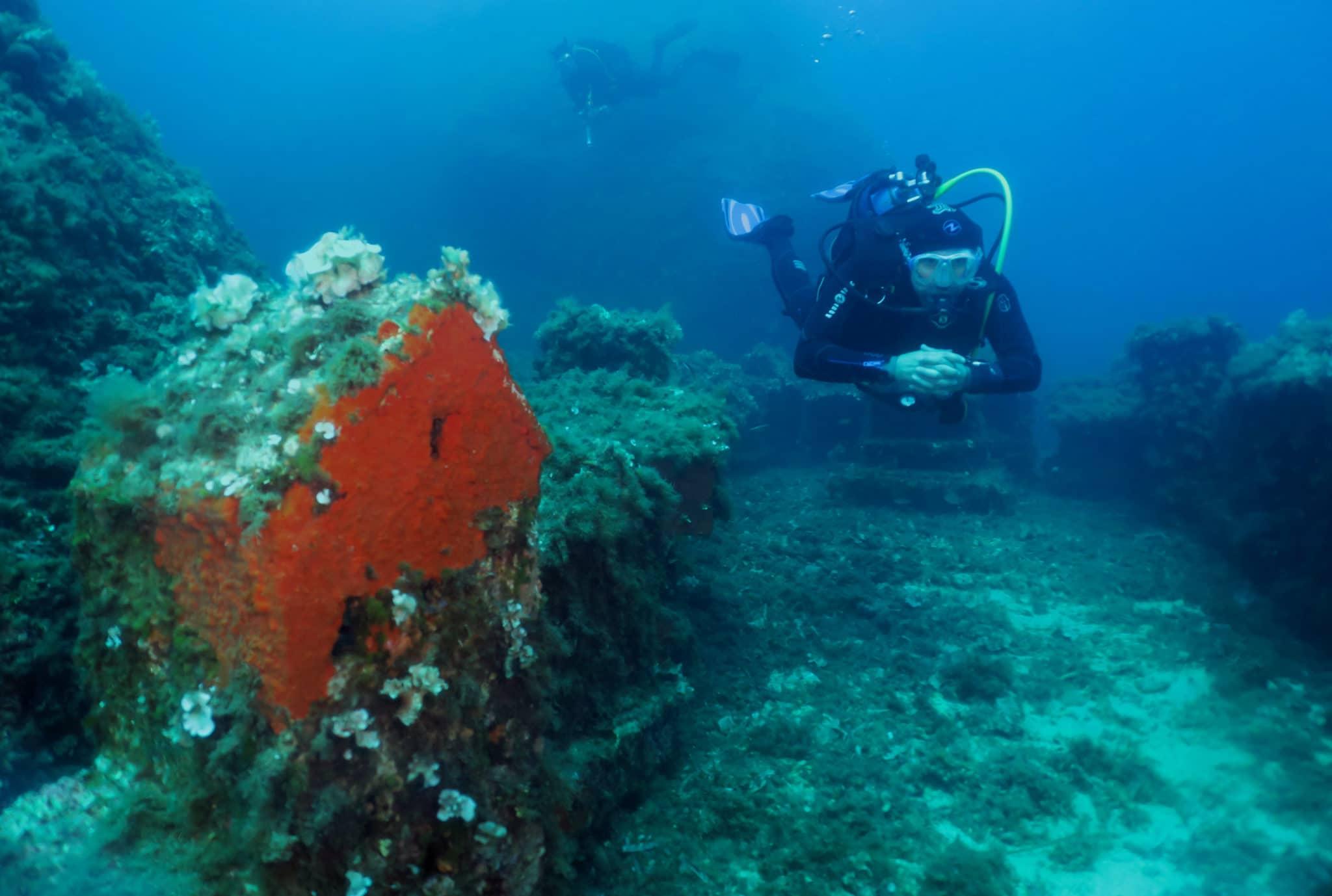 the underwater village diving golfe juan antibes
