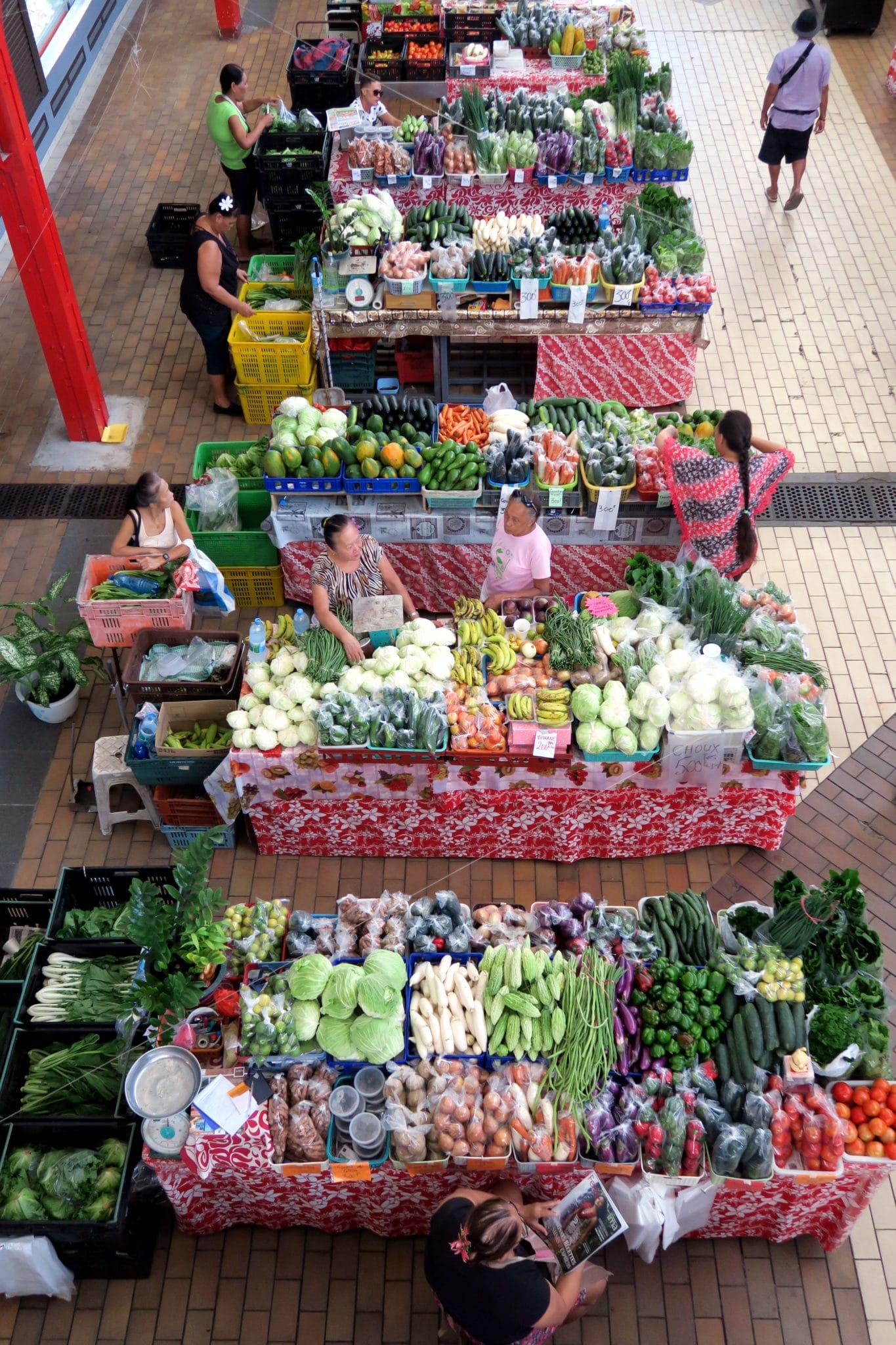 Papeete Central Market Tahiti