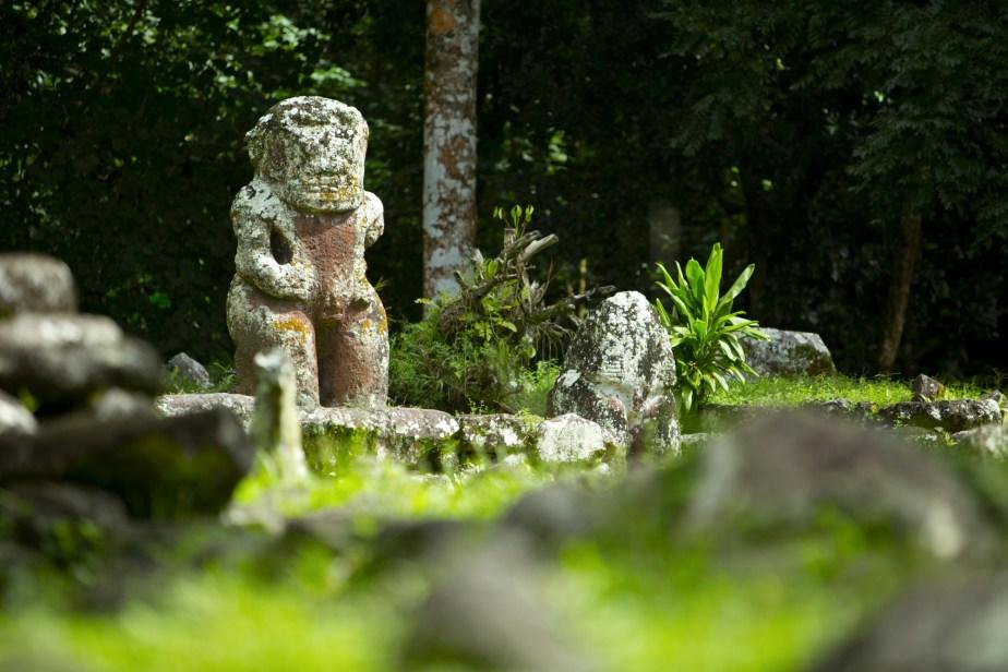 Archaeological sites Hiva Oa Marquesas Islands French Polynesia