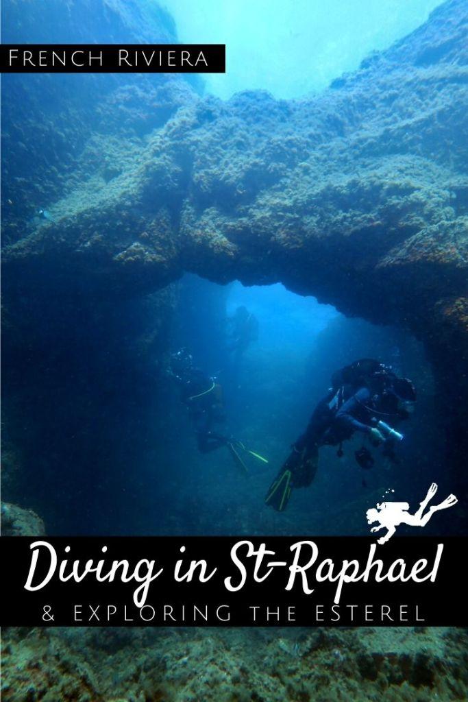 Diving in St Raphael - Exploring the Esterel - pin2