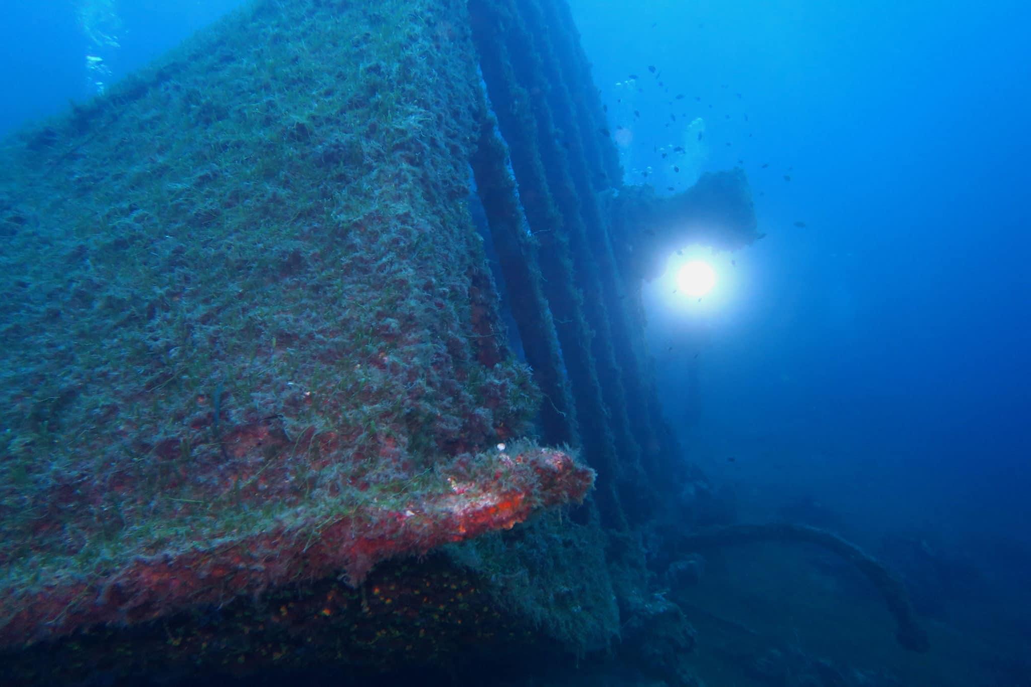 Spahis shipwreck Le Lavandou France