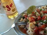 Ceviche with beer Playa del Carmen