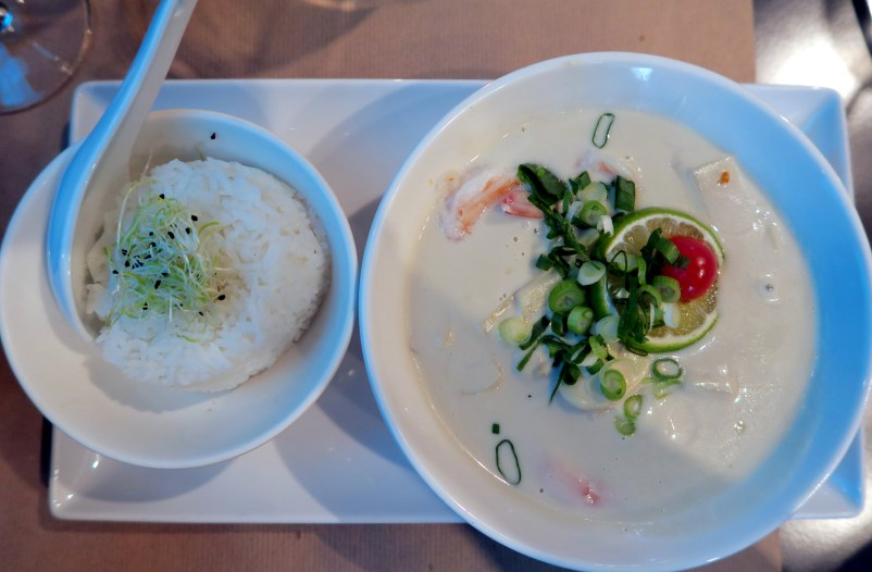 Shrimp coconut lemongrass Nemo 33 restaurant