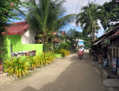 Panagsama main street Moalboal Cebu Philippines