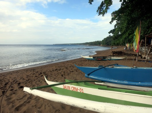 Dauin black sand beach Negros Philippines