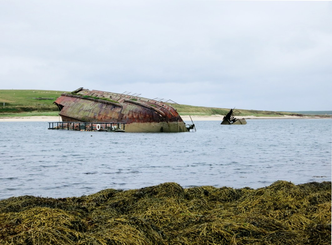 Churchill Barriers Blockships wrecks Orkney Scotland