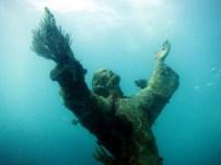 Christ Statue Scuba diving Key Largo USA
