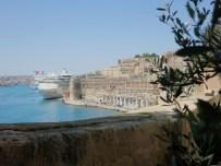 View from Lower Barraka gardens Valetta Malta
