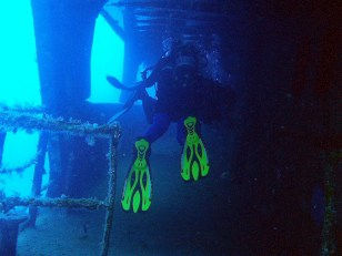 Wreck diving the UM El Faroud Blue Grotto Malta
