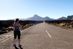 Lava fields Teide National Park Tenerife Canary Islands