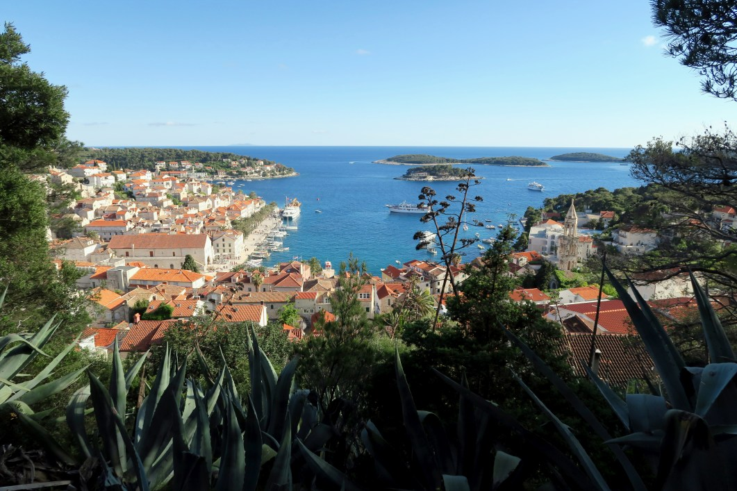 View of Hvar Town and the Pakleni Islands from the Spanish Fortress