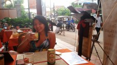 Drinks at a bar between our hotel and Pub Street. Great prices, terrible mojitos, lots of people watching