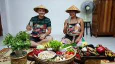 Photo op at Silom Thai Cooking School