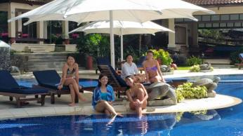 Hanging out at Turtle Pool and catching up with the girls. Photo credit: Ruel Panganiban