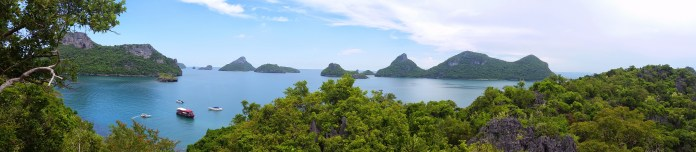 View of Ang Thong National Marine Park from the top of Mae Koh Island.