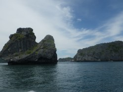 This island is called monkey island for the shape of a gorilla leaning against the rock.